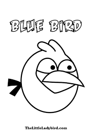 angry birds blue bird coloring pages coloring