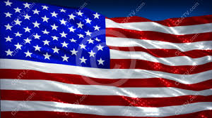 Memorial Day American Flag Shining American Flag Animation