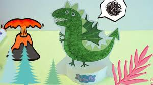 crafting george u0027s dinosaur from peppa pig fun kids craft