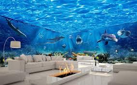 chambre theme espace 3d de plafond peint océan monde 3d stéréoscopique thème espace