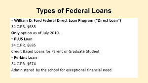 william d ford federal direct loan program loan options and chapter 13 bankruptcy ppt