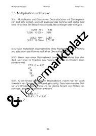 was sind dezimalbrüche merkheft klasse 6 mathematik