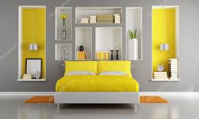 chambre gris et jaune chambre à coucher moderne jaune et gris photographie archideaphoto