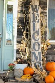 Fall Decorating Ideas For Front Porch - huge front porch welcome sign the wood grain cottage