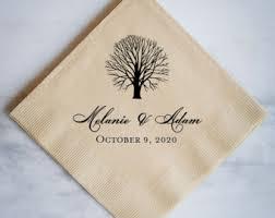 wedding napkins fall wedding napkins etsy