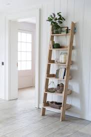 Shelf Ladder Woodworking Plans by Outdoor Ladder Shelves Repurposed Ladder Shelf Diy Shabby Chic