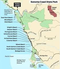 sonoma california map sunday drive sonoma coast beaches sfgate