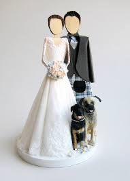 wedding cake topper with dog all things paper wedding cake toppers an with gwen