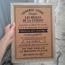 tableau cuisine tableau mémo les règles de la cuisine cadeau maestro
