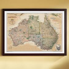 Framed World Map by Australia Political Map Classic Framed National Geographic Store