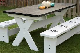 how to make an outdoor table how to build a farmhouse picnic table