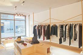 wooden store interiors a p c store london retail design blog