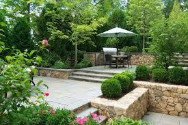 Tiered Backyard Landscaping Ideas by A Blade Of Grass Boston Landscape Design Installation U0026 Maintenance