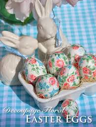 ceramic easter eggs three dogs in a garden home decoupage easter eggs