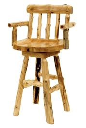 Bar Stool With Arms Rustic Leather Bar Stools