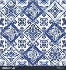 gorgeous seamless pattern blue moroccan stock vector