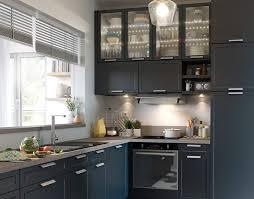 meuble cuisine bleu castorama cuisine fog bleu une cuisine chic et pratique cuisine