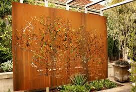 stylish metal garden wall art outdoor using metal in the landscape