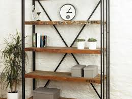 Leaning Book Shelf Furniture Industrial Open Shelf By Ladder Bookcase Awesome