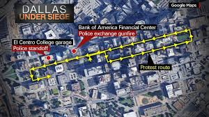 Bank Of America Maps by Officers Ambushed Killed After U0027black Lives Matter U0027 Rally Kesn Fm