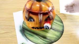 Pumpkin Halloween Cake by Kricky Cakes Decoration Halloween Pumpkin Cake Tutorial