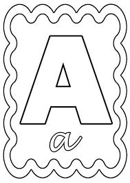 Coloriage Lettre A à colorier ou à gommettes  ETIQUETTES DIVERSES