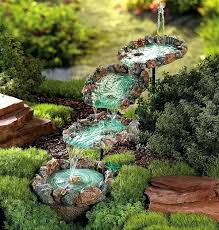 Water Rock Garden Rock Fountains For Garden Fabulous Water In Garden Water