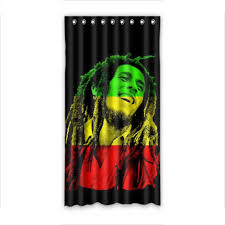 chambre rasta window curtain for bedroom finished product shade cloth bob marley