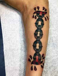 40 chain tattoos for manly designs linked in strength