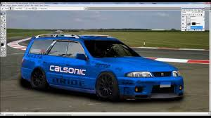 nissan stagea nissan stagea nissan skyline r33 front swap virtual tuning 5