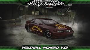 vauxhall monaro vxr need for speed most wanted car build vauxhall monaro vxr youtube