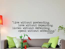 Home Decor Quotes by Drake Quote Inspirational Wall Decal Typography Home Décor Drake