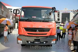 mitsubishi truck indonesia fuso fj 2523r 6 2 super long cargo wing body front at the