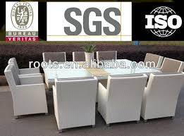 Patio Table Seats 10 Outdoor Wicker 10 Seater Dining Table And Chairs Rattan Deck