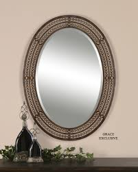 oval wall mirrors oil rubbed bronze oval wall mirror oil rubbed