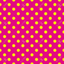 yellow with pink polka dots seamless pattern or texture with yellow polka dots on neon pink