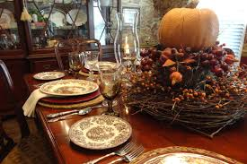 thanksgiving table setting traditional dining room dc metro