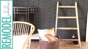 diy blanket diy blanket ladder tutorial from pallet wood build for free