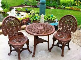 Plastic Garden Tables And Chairs Our Garden Path Plastic Garden Table U0026 Chairs