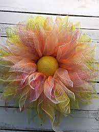 spring wreath summer wreath everyday wreath deco mesh flower