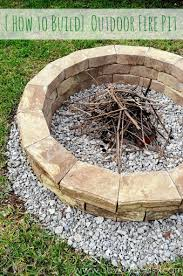 How To Build A Backyard Firepit Building Outdoor Pit Intended For Diy Fir 20449
