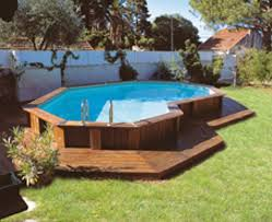 Backyard Pool Ideas On A Budget by Pool Contemporary Picture Of Light Brown Oak Wood Above Ground