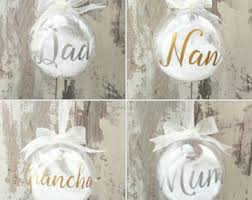 personalised bauble etsy