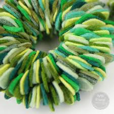 felt wreath ornaments during time