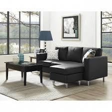 Small Space Sofa by Small Couch With Chaise Lounge Configurable Black Sectional Sofa