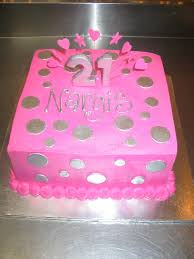 square pink butter icing silver polka dots 21st birth u2026 flickr