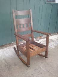 Rocking Chair Seat Repair John Mark Power Antiques Conservator Arts And Crafts Oak