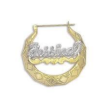 name plated earrings nameplate earrings name earrings nameplatedepot