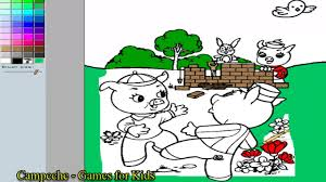 the three little pigs online coloring pages fifer pig fiddler