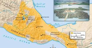 aztec map of mexico the aztec empire a map of the aztecs